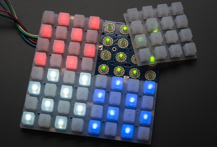 Adafruit 4×4 elastomer keypad