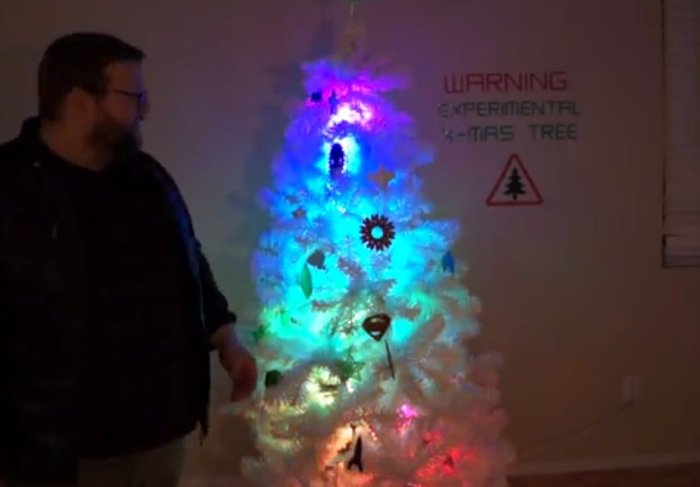 Arduino powered christmas tree created with d printed