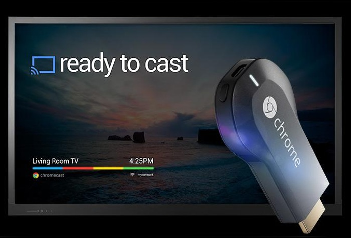 Google Chromecast screen mirroring