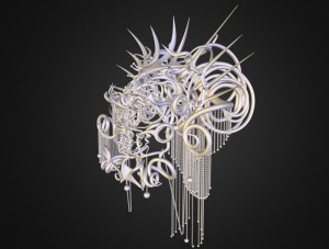 3D Printing And Fashion Combine To Create The Quixotic Divinity Headdress (video)