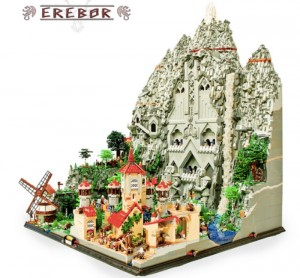80,000 Lego Brick Hobbit Erebor Kingdom Took 400 hrs To Build (video)
