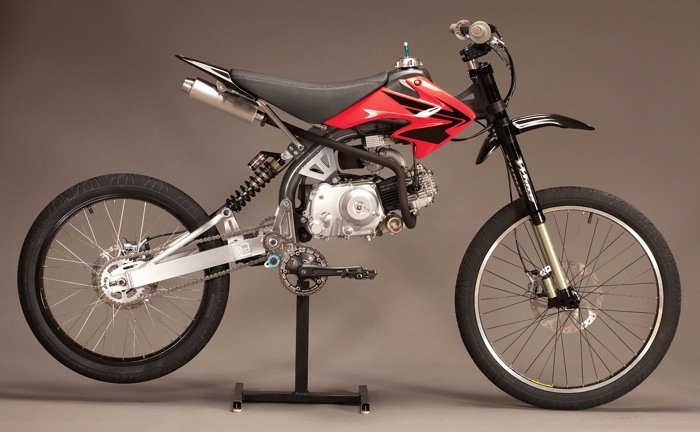 Motoped Motorised Bike Kit Is The Missing Link Between