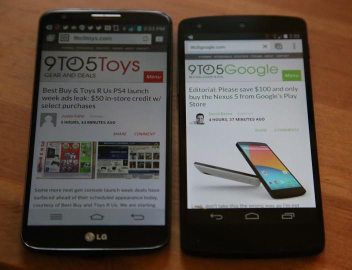 Nexus 5 and G2