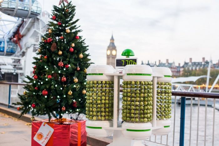 Brussel Sprouts Powered Christmas Tree