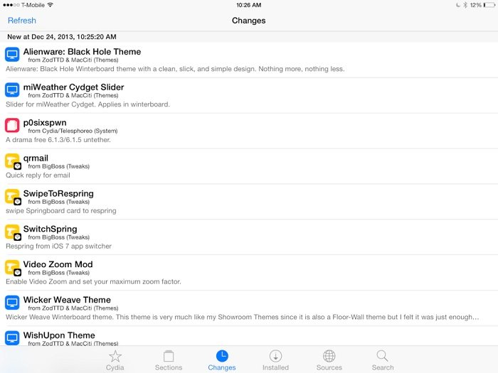Cydia App Redesigned with iOS 7 Look and Feel for Jailbroken Devices