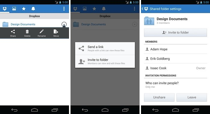 Dropbox for Android Updated with Improved Mobile Sharing