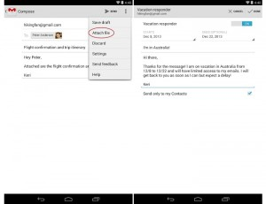Gmail for Android Updated with Vacation Responder and New Attachment Types