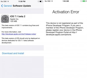 Apple Blocked Non-Developers from Updating to iOS 7.1 Beta 2 Firmware
