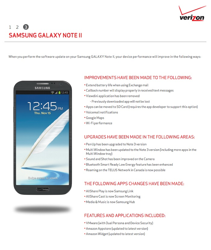 Verizon Rolling Out Android 4.3 Jelly Bean Update for Galaxy Note 2