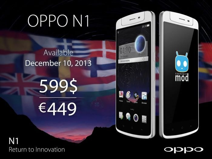 Oppo N1 Lands In The US And Europe December 10th