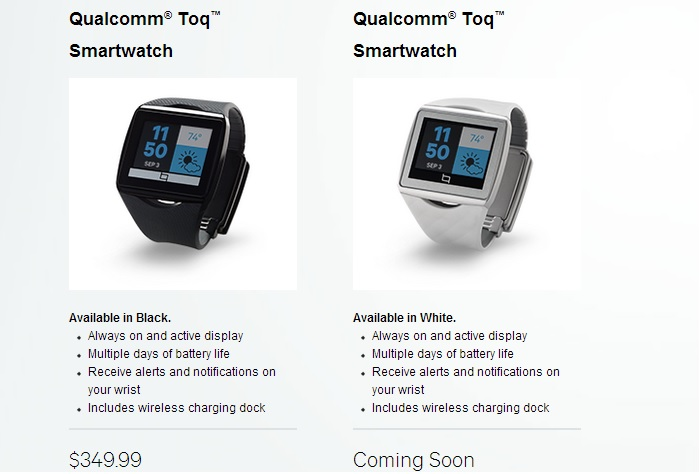 Qualcomm Toq Available for Sale for $349, Ships in 1-2 Weeks