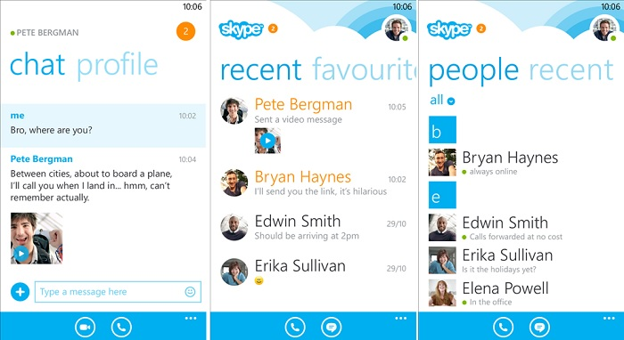 Skype for Windows Phone