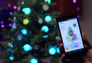 Sony updates the Christmas tree using NFC and your smartphone