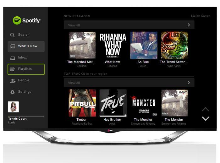 Spotify LG TV