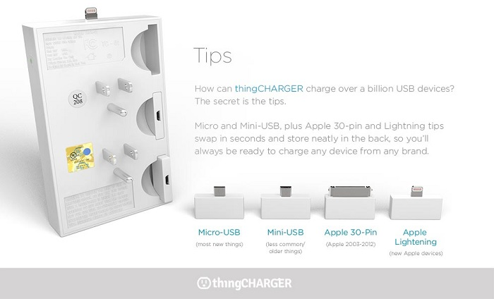 charge your devices without blocking outlets with thingcharger
