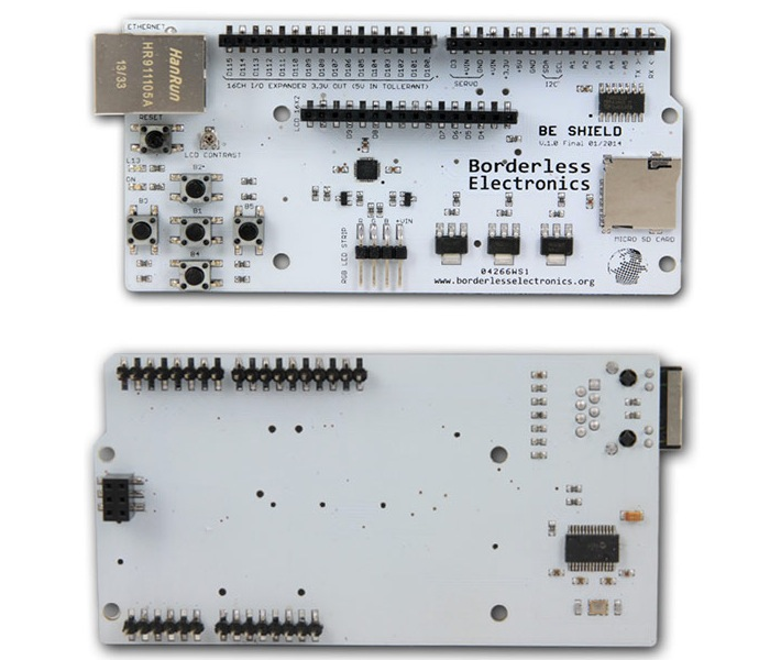 BE SHIELD Learning Board For Any Arduino Compatible Board (video)