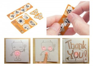 Chibitronics Circuit Stickers Allow You To Be Creative With Electronics Without Soldering (video)