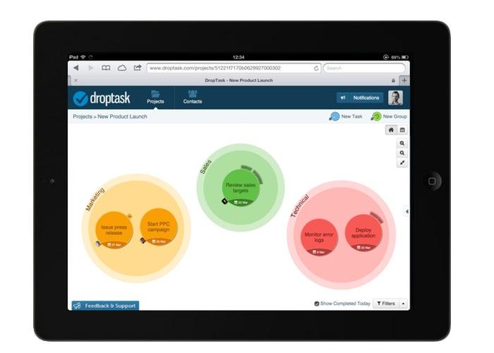 DropTask Productivity App