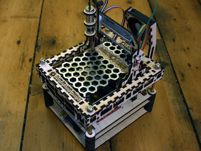 The design for the MicroSlice laser cutter and engraver has been ...