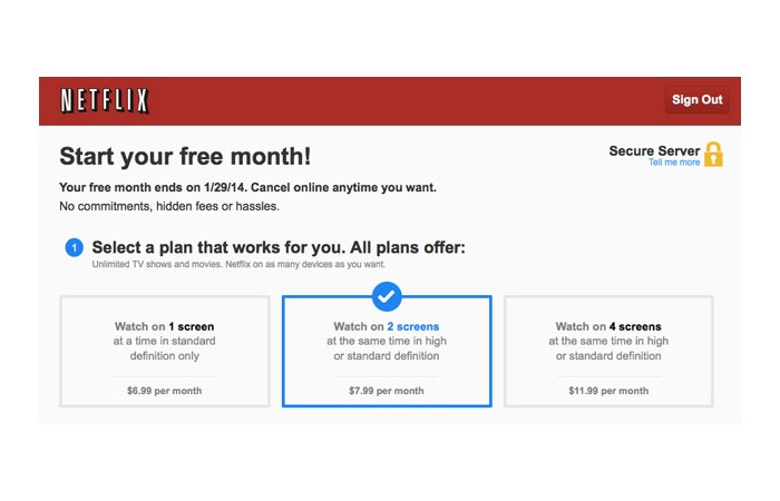 Netflix New Subscription Plans