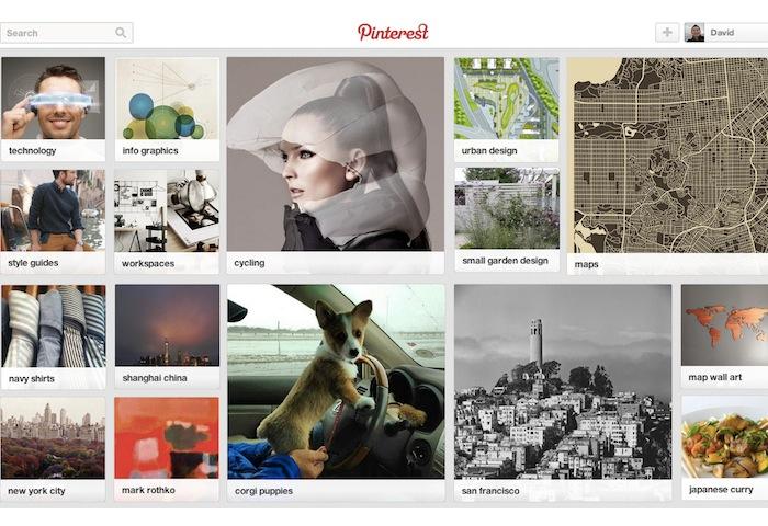 Pinterest Interest-Based Homepage