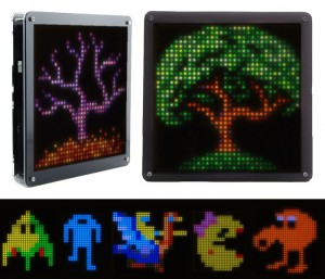 Retro Pixel LED Art Display Controlled Via Your Smartphone (video)