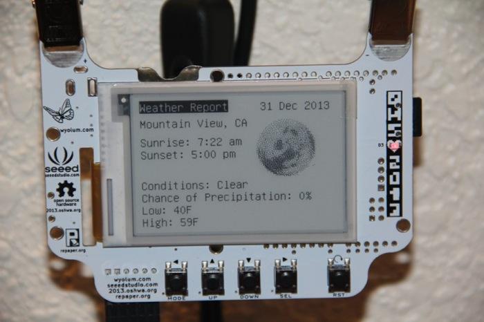 Raspberry Pi BADGEr ePaper Weather Station