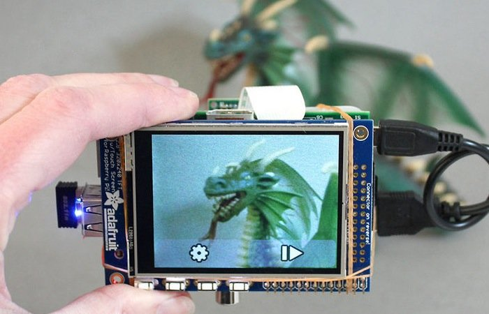 Raspberry Pi Touchscreen Monitor Camera