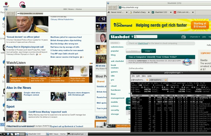 Raspberry Pi Web Browser