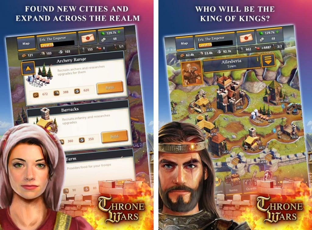 Throne Wars screens