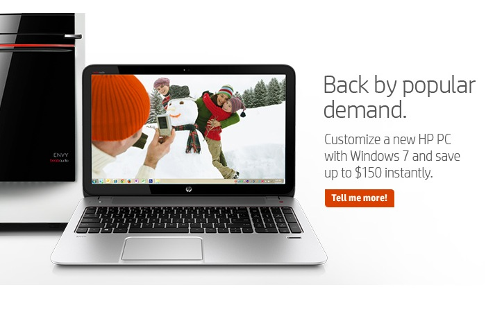 Windows 7 Is Back By Popluar Demand