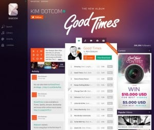 Kim DotCom Demos New Music Streaming Site With His Own Album