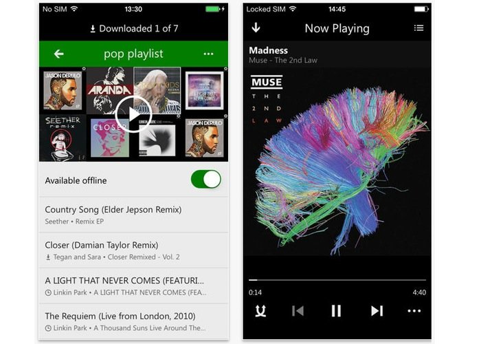 iOS Xbox Music App