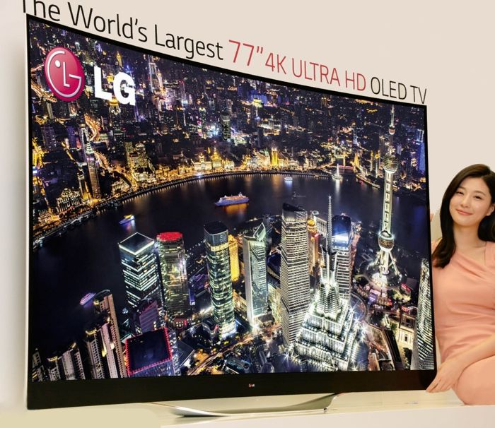 Lg 2014 curved oled 55 tv - e587e
