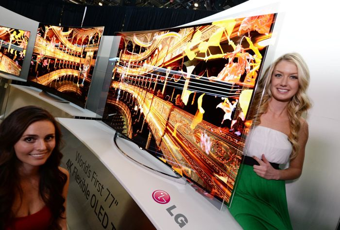 LG Flexible Curved OLED TV