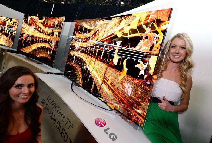 LG Flexible Curved OLED TV