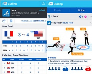 Samsung app for the 2014 Winter Olympics