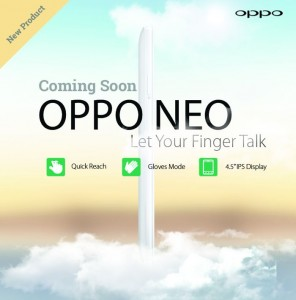 Oppo Neo Android Smartphone Teased