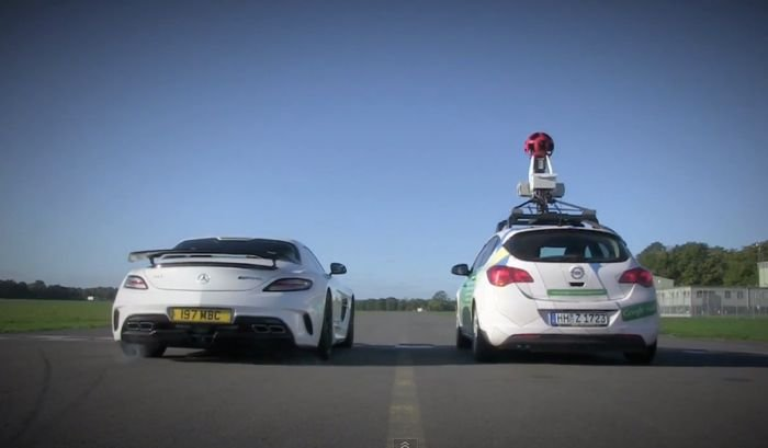 Google Street View Car Takes On The Stig On Top Gear Test Track (Video)