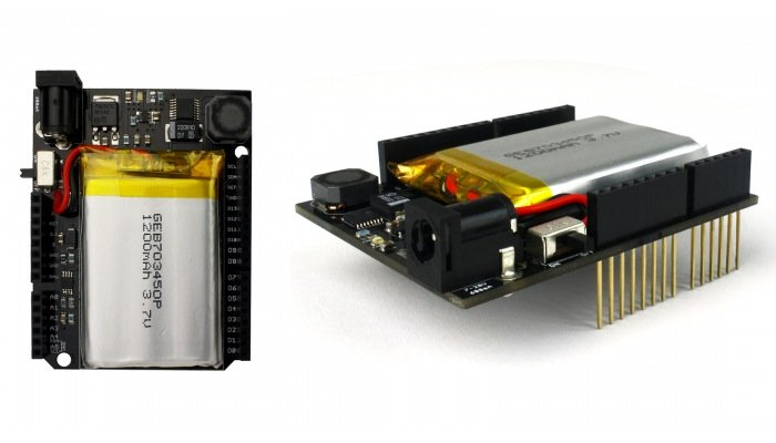 Energyshield arduino rechargeable battery video