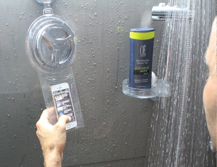 smartphone shower case