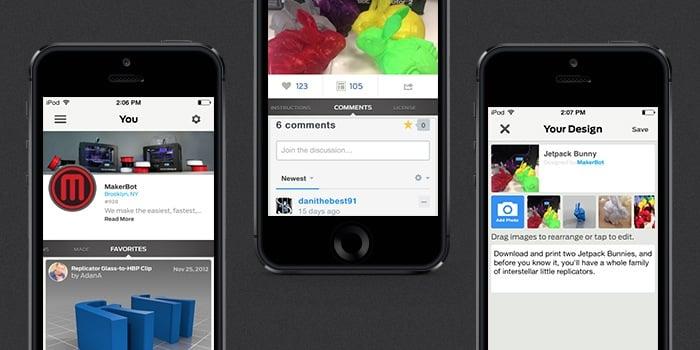 MakerBot Thingiverse iOS App