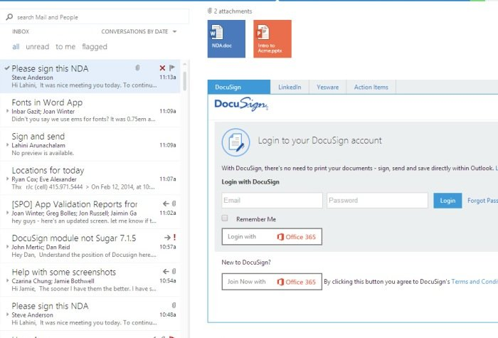 Microsoft and DocuSign