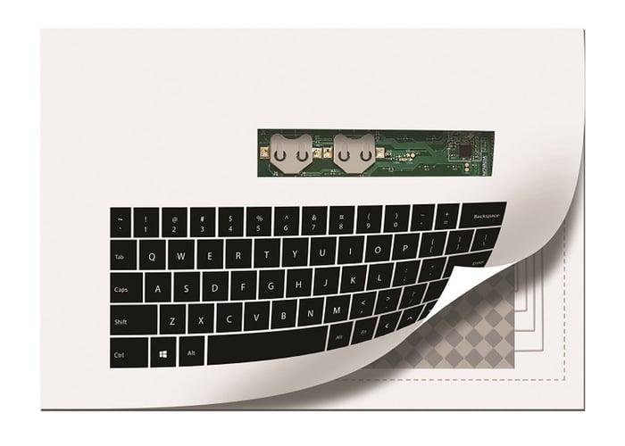 Novalia printed keyboard