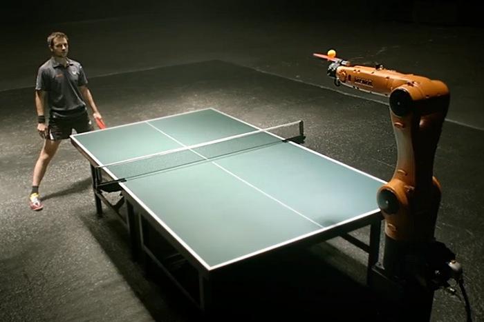 Ping Pong Champion Takes On Kuka Robot