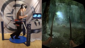 Totally Immersive Skyrim VR Demo Uses Oculus Rift And Cyberith Virtualizer (video)