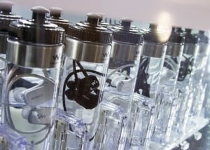 Sony Waterproof MP3 Players Packaged In Bottles Of Water (video)