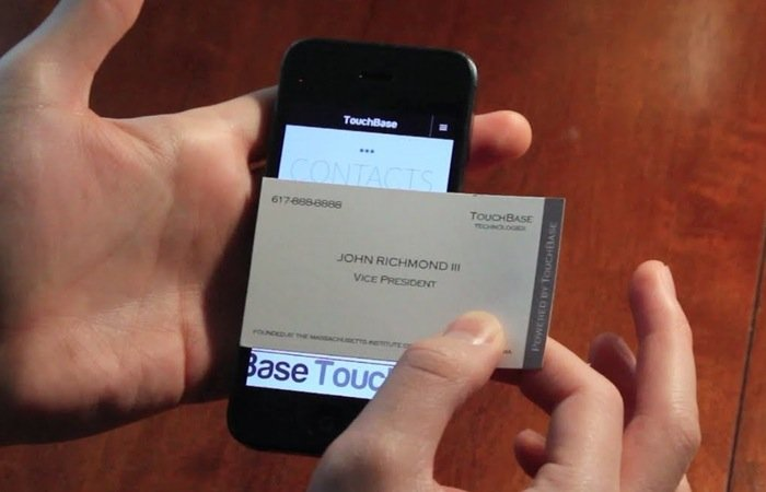 Touchbase business cards interact with your touchscreen smartphone touchbase business cards colourmoves