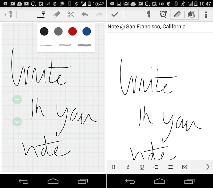 Evernote Beta for Android Gets Hand Writing Support