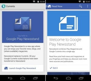 Google Currents Latest Update Kills It, Asks You To Get Play Newsstand